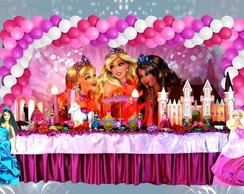 Mesa tem�tica Barbie escola de princesas