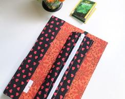 Caderno Cora��o, Estojo e Marcador P�g