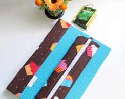 Caderno Cupcake, Estojo e Marcador P�g