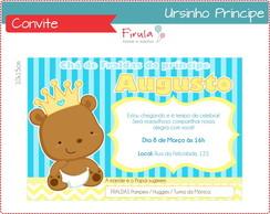 Convite Digital Ursinho Pr�ncipe