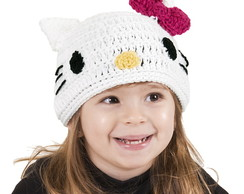 Touca de Croch� Hello Kitty INFANTIL