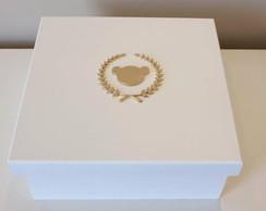 Caixa Monograma Com Ursinho 25x25x11cm