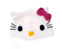 Touca de Croch� Hello Kitty ADULTO