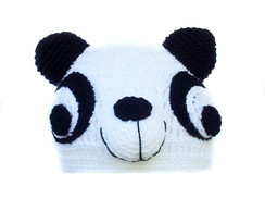 Touca de Croch� Panda ADULTO