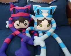 Toy Art Casal gatos Cheshire