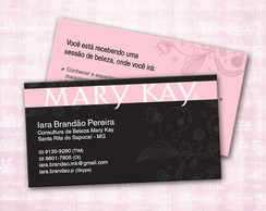 Cart�o de visita Mary Kay