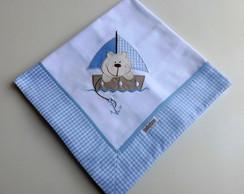 Cueiro Bordado Ursinho (azul)