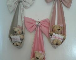 Enfeite Porta Maternidade Urso no La�o
