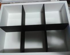 Caixa de Ch� Preta e Branco