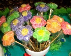 Pirulito de Jujuba em formato de Flor