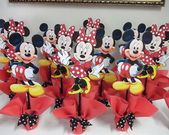 Centro mesa mickey e minnie kit c/ 20 p�