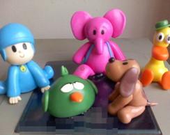 Topo de Bolo Pocoyo e seus Amigos