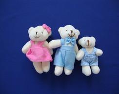 Fam�lia Ursinhos Com 3 Ursinhos -12 Cm