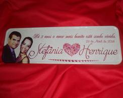 Placa Stef�nia e Henrique