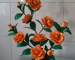 Arranjo de Flores - Rosas Laranjas