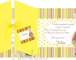 Convite Anivers�rio P�scoa Amarelo