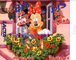 Arte Digital R�tulo Bis Minnie