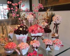 Kit festa flores secas rosa & marrom IX