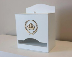 Porta Fraldas Monograma Coroa Princesa