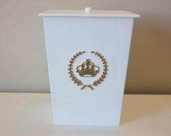 Lixeirinha Monograma Coroa Princesa