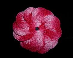 Flor em croch� para aplica��o