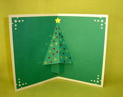 Cart�o �rvore de Natal 1