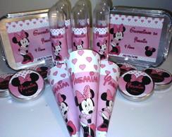 Kit Personalizado 80 Itens Minnie