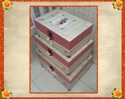 Conjunto Caixas Bonecas Porcelana