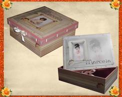 Caixas bonecas de porcelana