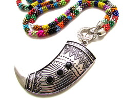 Colar �tnico Tribal Dente