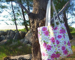 Bolsa dupla face Power  Flower