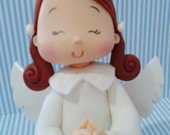 Batizado Anjinha- Topo De Bolo