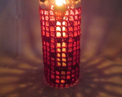 Lumin�ria Coruja Vermelha