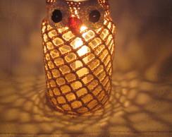 Lumin�ria Coruja Bege