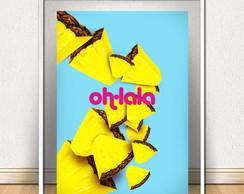 Poster Abacaxi Pop - Gravura/Quadro