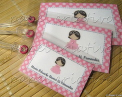 Kit 3 Bagtags - Princesinha Rosa