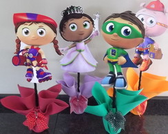 SUPER WHY CENTRO DE MESA KIT C/20 PE�AS