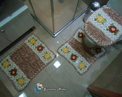 Jogo de banheiro - Flores BNH 028