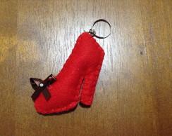 Lembrancinha chaveiro de feltro sapato
