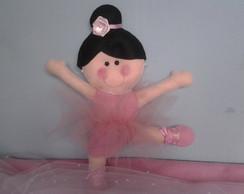 Boneca bailarina em feltro