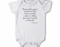 Body/camiseta Frases - Nascido de Deus