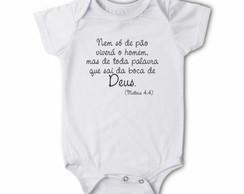 Body/camiseta Frases - Nem s� de P�o