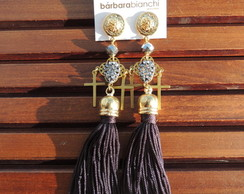 BB215 | Brinco Tassel Black n�Gray