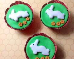 50 Mini Cupcake coelho da p�scoa