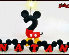 Vela Mickey 10cm By Liliartes