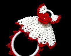 Porta-pano De Prato De Croch� Vestido