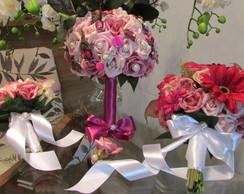 Kit bouquet noiva/mae da noiva/solteiras