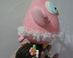 Topo de bolo Coruja no galho