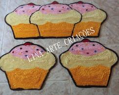 Jogo De Passadeira Cupcake amarelo