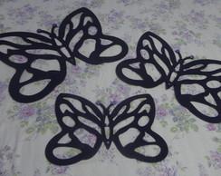 Trio de borboletas vazadas de mdf